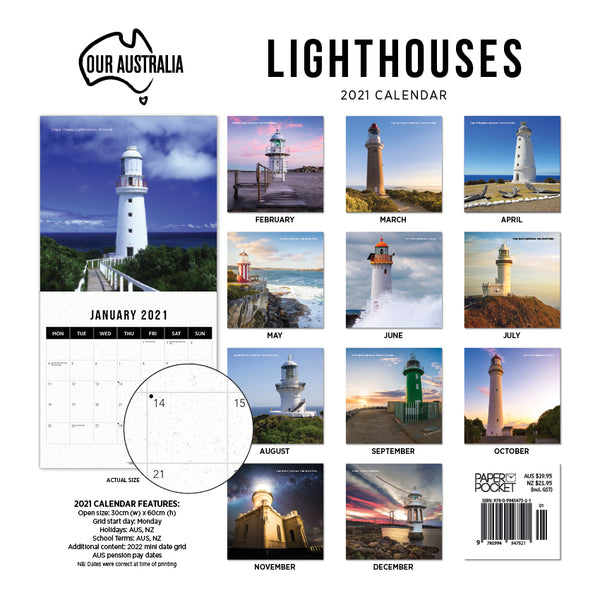 Our Australia Lighthouses 2021 Calendar