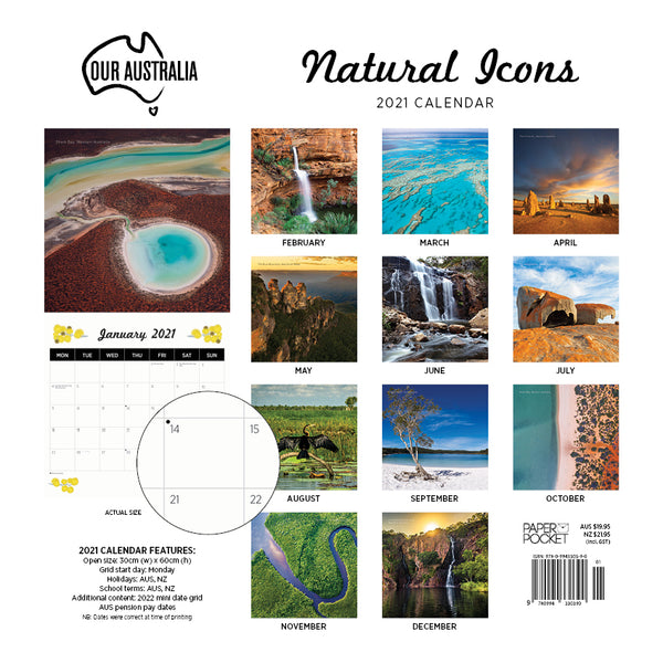 Our Australia Natural Icons 2021 Calendar