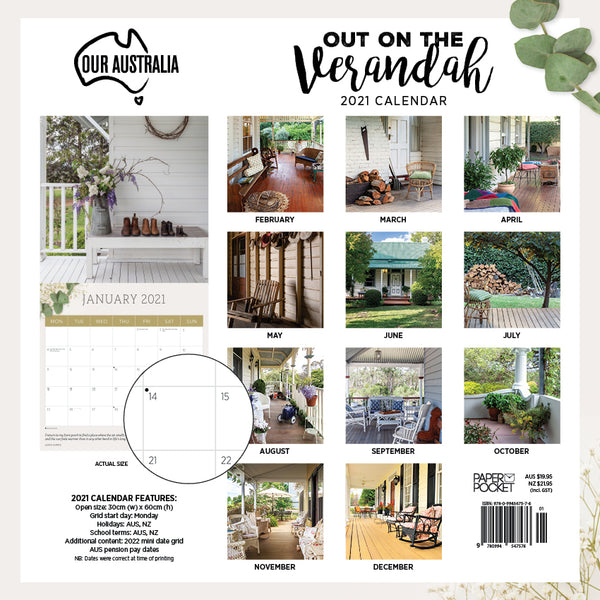 Our Australia Out on the Verandah 2021 Calendar