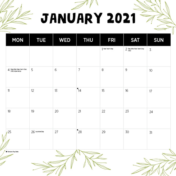 Our Australia Queensland 2021 Calendar