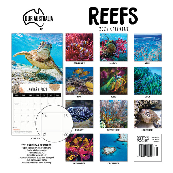 Our Australia Reefs: Above and below 2021 Calendar