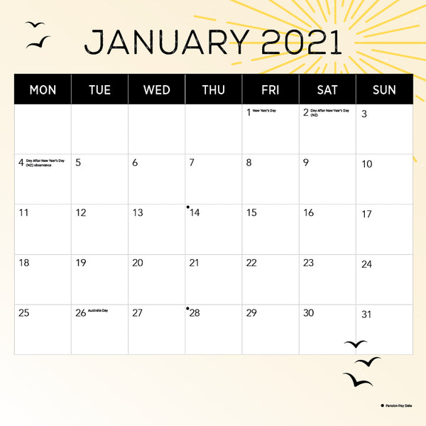 Our Australia Sunsets 2021 Calendar