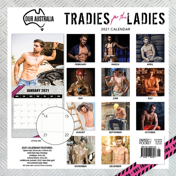 Our Australia Tradies for the Ladies  2021 Calendar