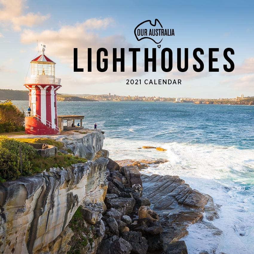 Paper Pocket - Our Australia Lighthouses 2021 Calendar