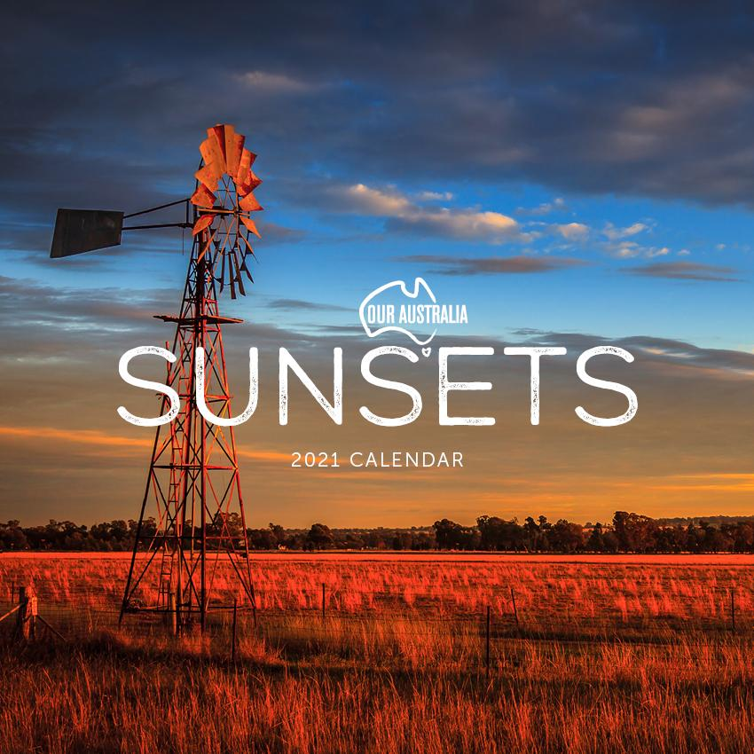 Paper Pocket - Our Australia Sunsets 2021 Calendar
