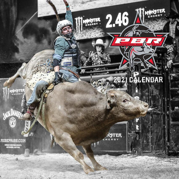 Paper Pocket - PBR Professional Bull Riding 2021 Calendar