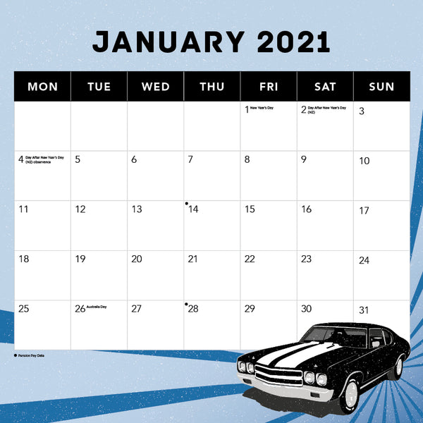 Performance Fords 2021 Calendar
