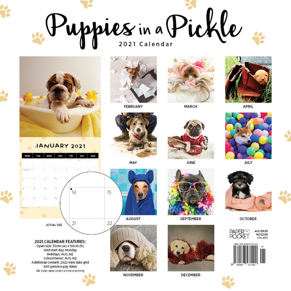 Puppies in a Pickle  2021 Calendar