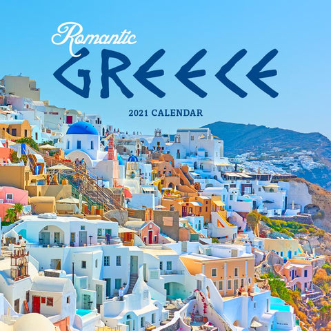 Paper Pocket - Romantic Greece 2021 Calendar
