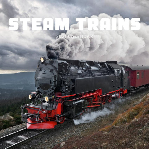 Paper Pocket - Steam Trains  Calendar  2021 Calendar