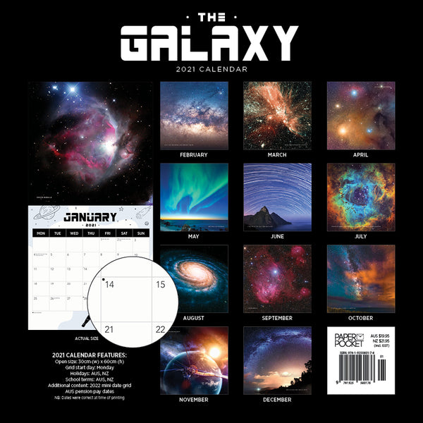 The Galaxy: Star trails and Constellations  2021 Calendar