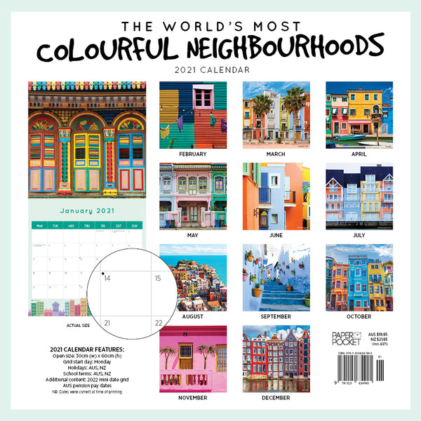 The World's Most Colourful Neighborhoods 2021 Calendar