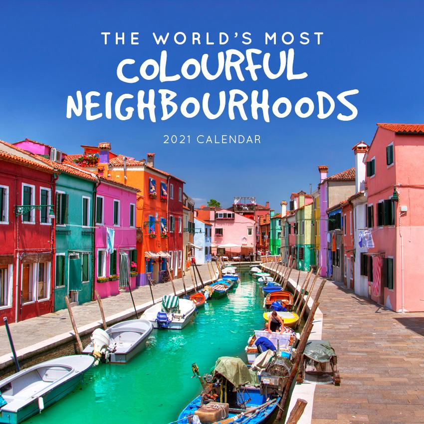 Paper Pocket - The World's Most Colourful Neighborhoods 2021 Calendar