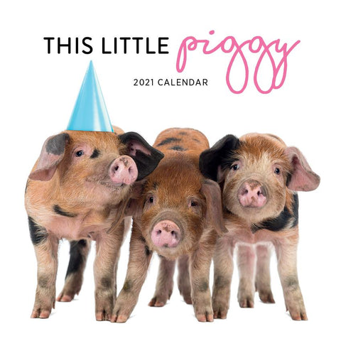 Paper Pocket - This Little Piggy 2021 Calendar