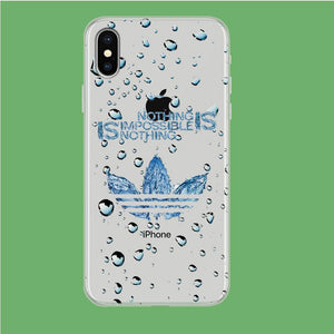 Adidas Rainy Drop iPhone X Clear coque custodia fundas