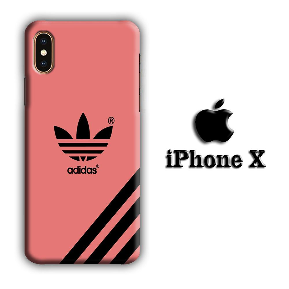 Adidas Young Red iPhone X 3D coque custodia fundas