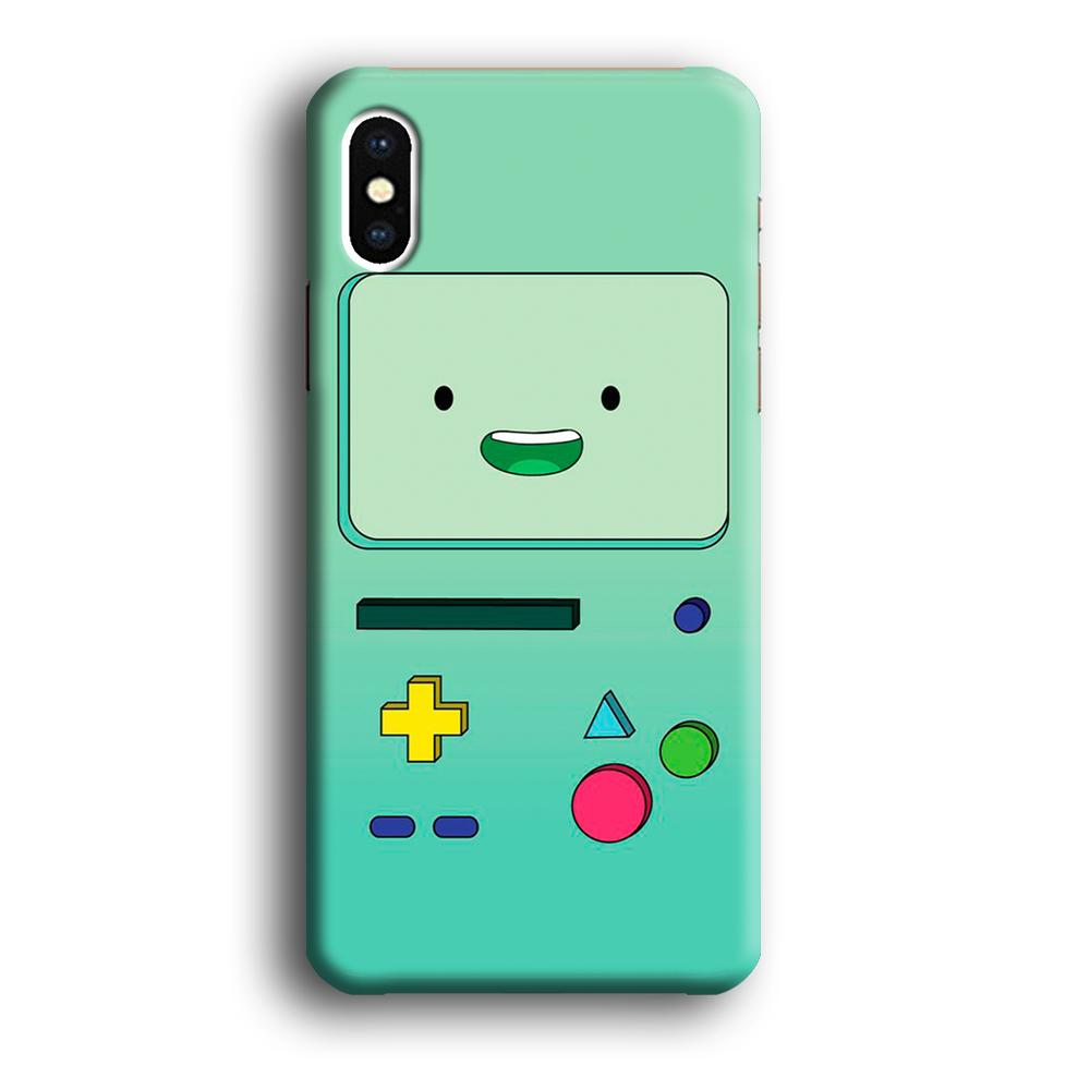 Adventure Time Beemo Face iPhone Xs 3D coque custodia fundas