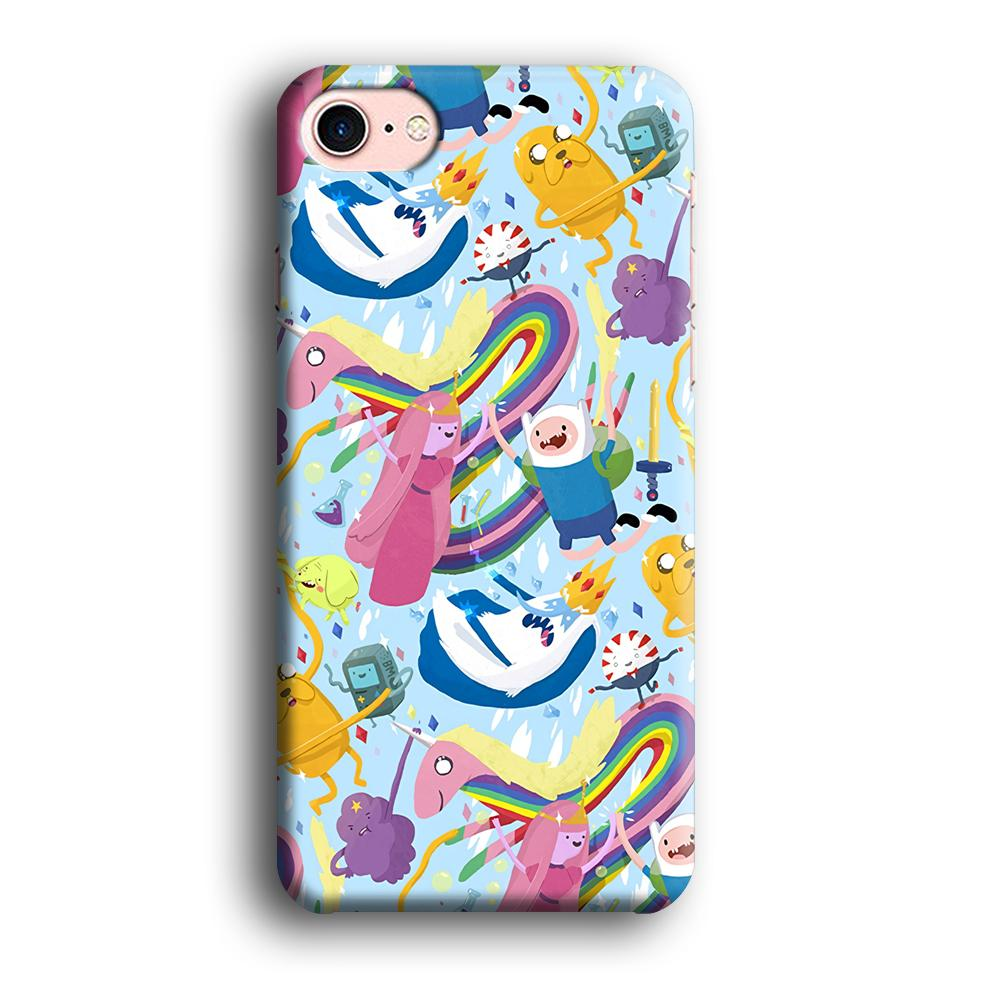Adventure Time Flying and Playing iPhone 7 3D coque custodia fundas