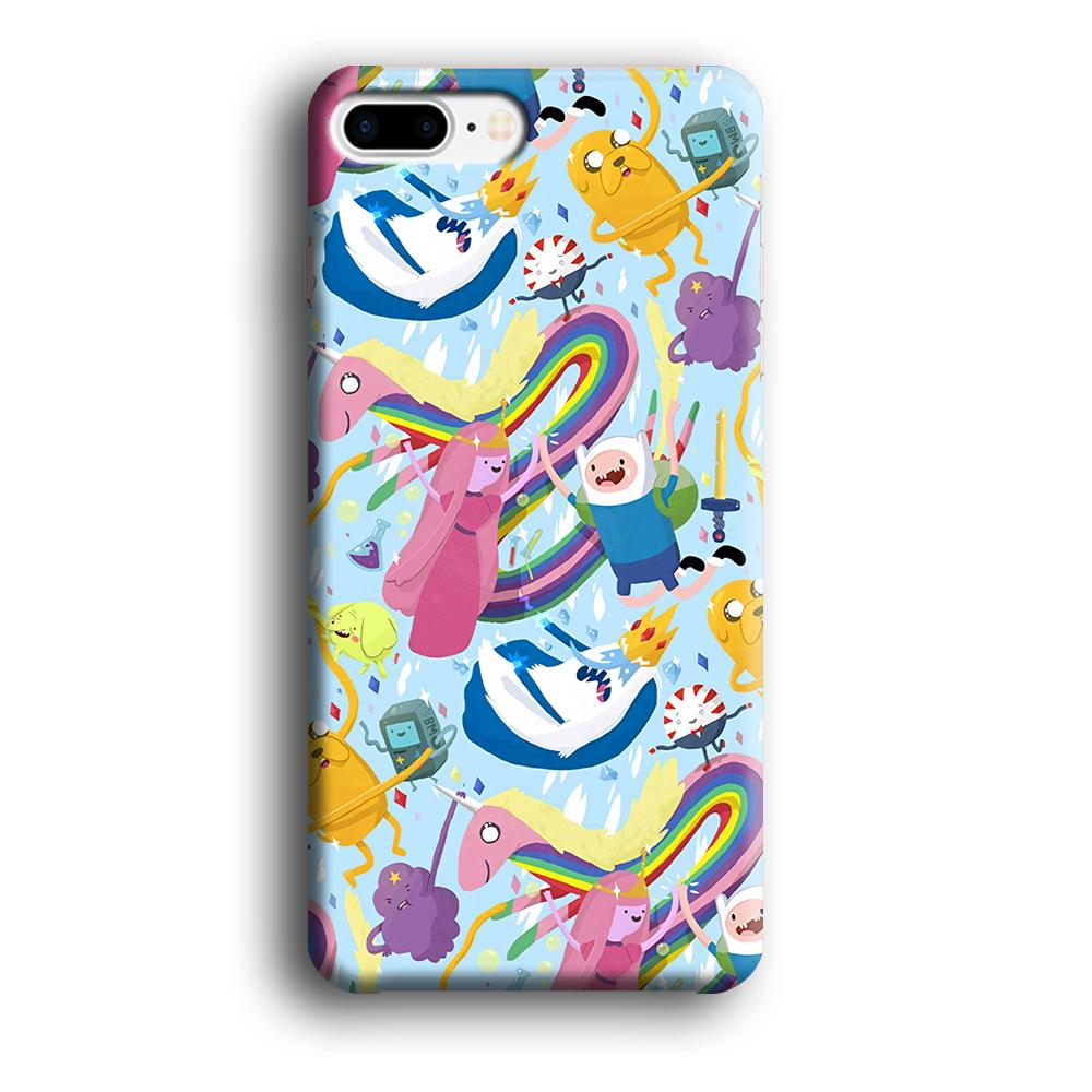 Adventure Time Flying and Playing iPhone 8 Plus 3D coque custodia fundas