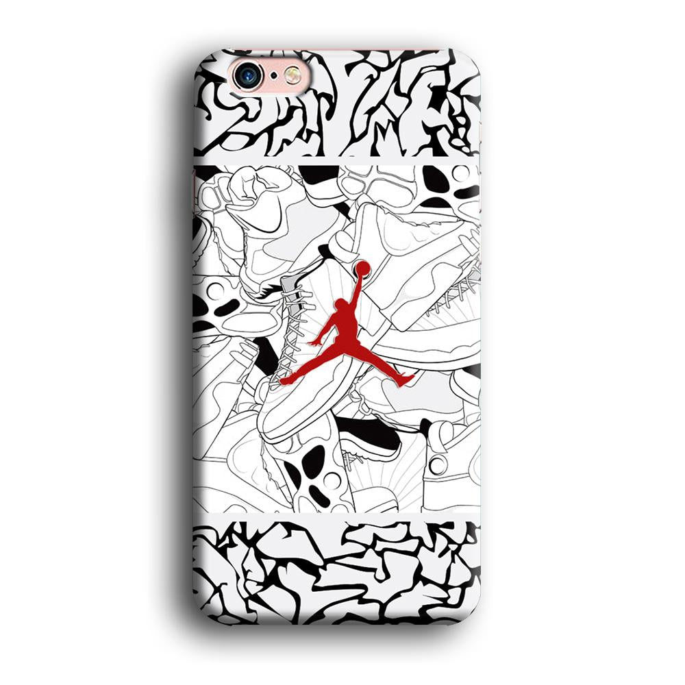 Air Jordan Collage of Soul iPhone 6 | 6s 3D coque custodia fundas