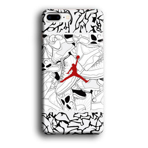 Air Jordan Collage of Soul iPhone 7 Plus 3D coque custodia fundas