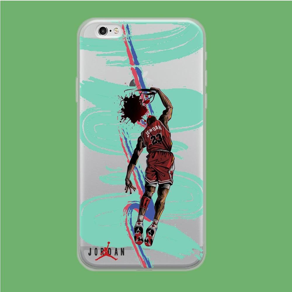 Air Jordan Flying Dunk coque iPhone 6 | iPhone 6s Clear