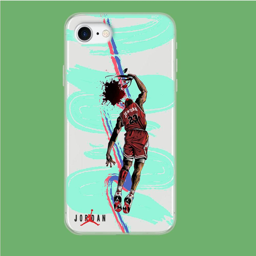 Air Jordan Flying Dunk coque iPhone 8 Clear