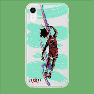 Air Jordan Flying Dunk iPhone XR Clear coque custodia fundas