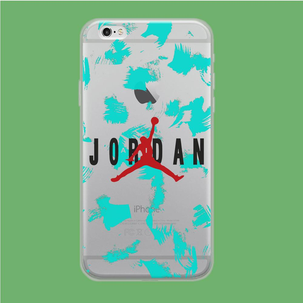 Air Jordan Paint Abstract coque iPhone 6 Plus | iPhone 6s Plus Clear
