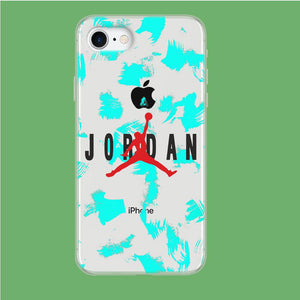 Air Jordan Paint Abstract coque iPhone 8 Clear