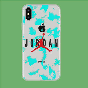 Air Jordan Paint Abstract iPhone X Clear coque custodia fundas