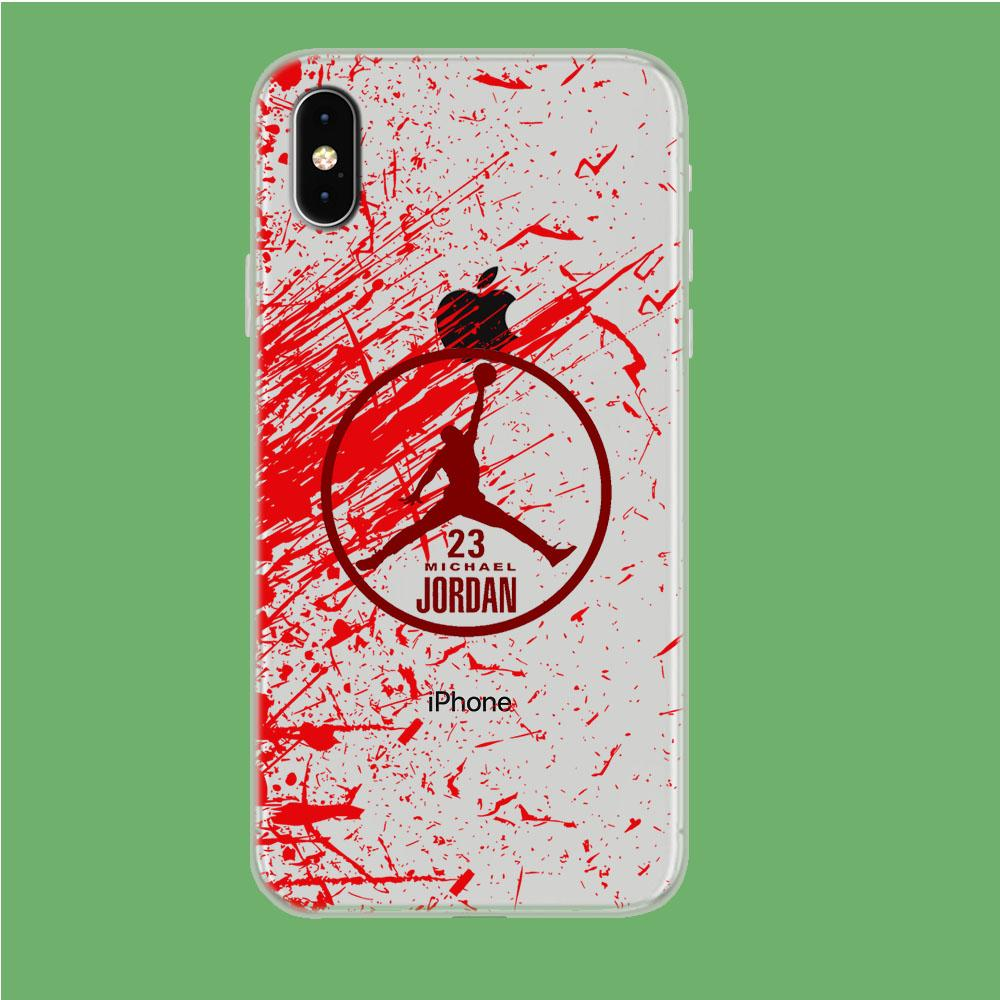 Air Jordan Passionate Soul iPhone Xs Max Clear coque custodia fundas