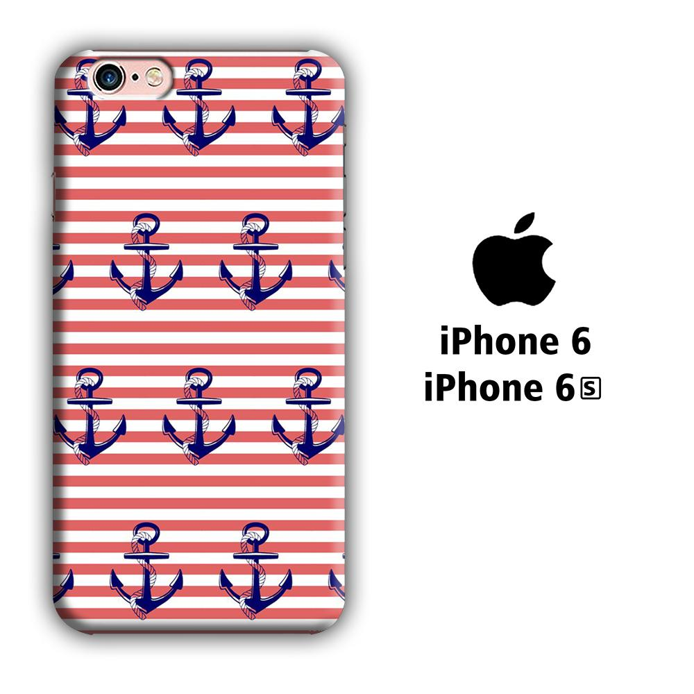 Anchor Red Strip iPhone 6 | 6s 3D coque custodia fundas