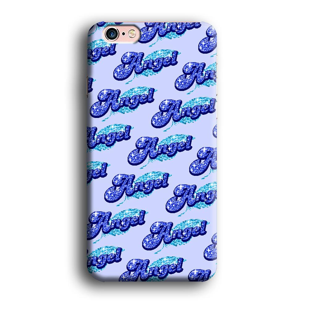 Angel Glitter Font iPhone 6 Plus | 6s Plus 3D coque custodia fundas