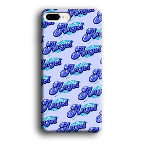 Angel Glitter Font iPhone 7 Plus 3D coque custodia fundas