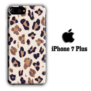 Animal Prints Jaguar Brown Glitter iPhone 7 Plus 3D coque custodia fundas