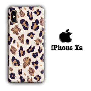 Animal Prints Jaguar Brown Glitter iPhone Xs 3D coque custodia fundas