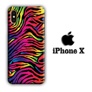 Animal Prints Rainbow Form iPhone X 3D coque custodia fundas
