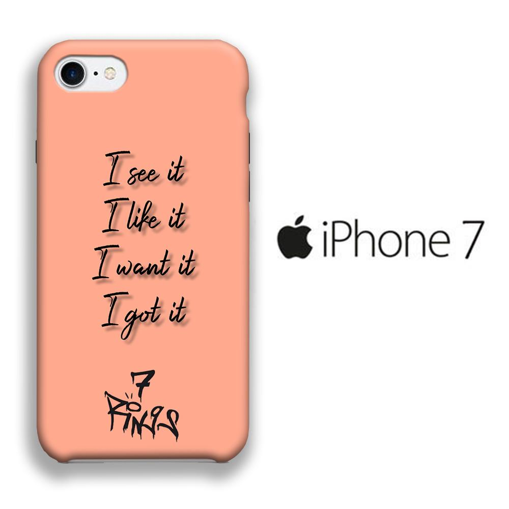 Ariana Grande 7 Rings Word iPhone 7 3D coque custodia fundas