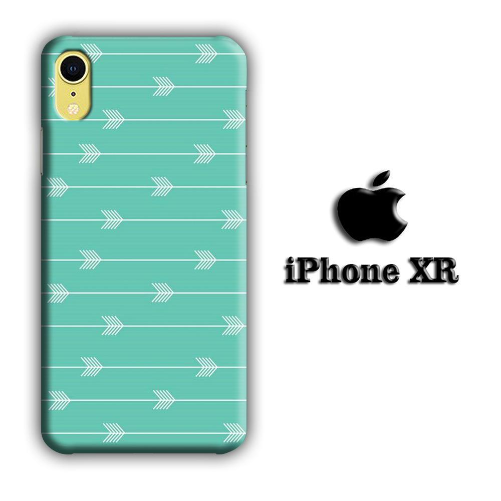 Arrow Green Blue iPhone XR 3D coque custodia fundas