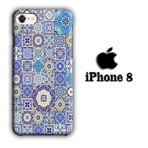 Art Ceramic Patern 003 iPhone 8 3D coque custodia fundas