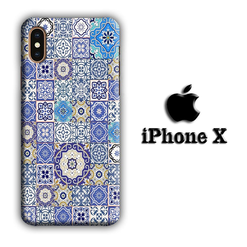 Art Ceramic Patern 003 iPhone X 3D coque custodia fundas