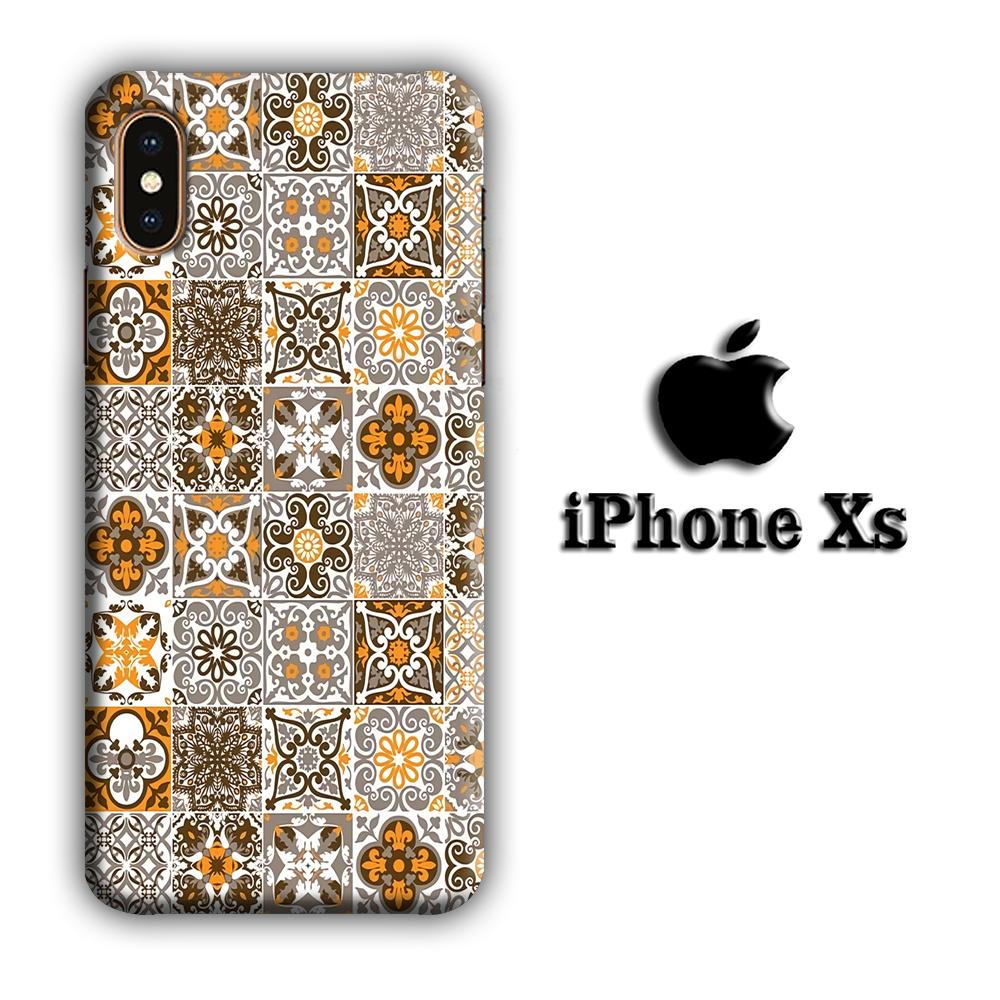 Art Ceramic Patern 004 iPhone Xs 3D coque custodia fundas