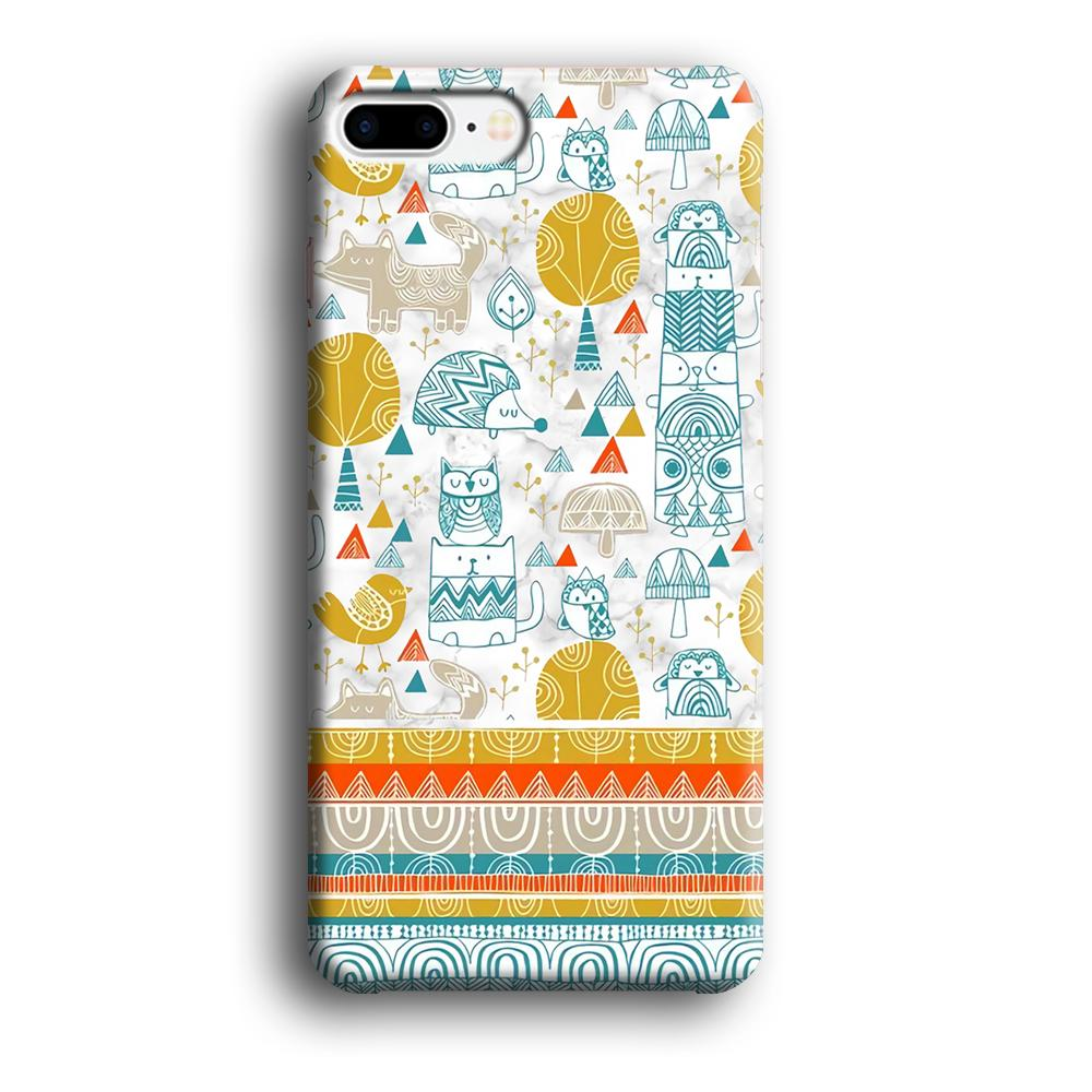 Art Ethnic Monograph iPhone 7 Plus 3D coque custodia fundas