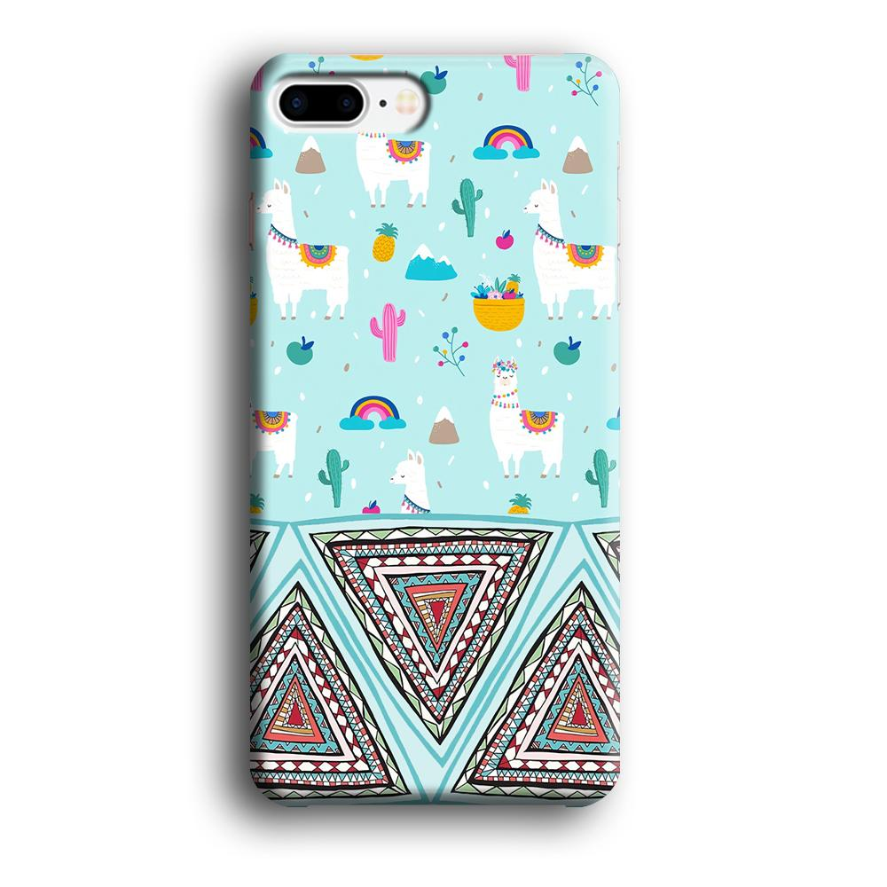Art Ilama Birthday with Triangle of Culture iPhone 8 Plus 3D coque custodia fundas