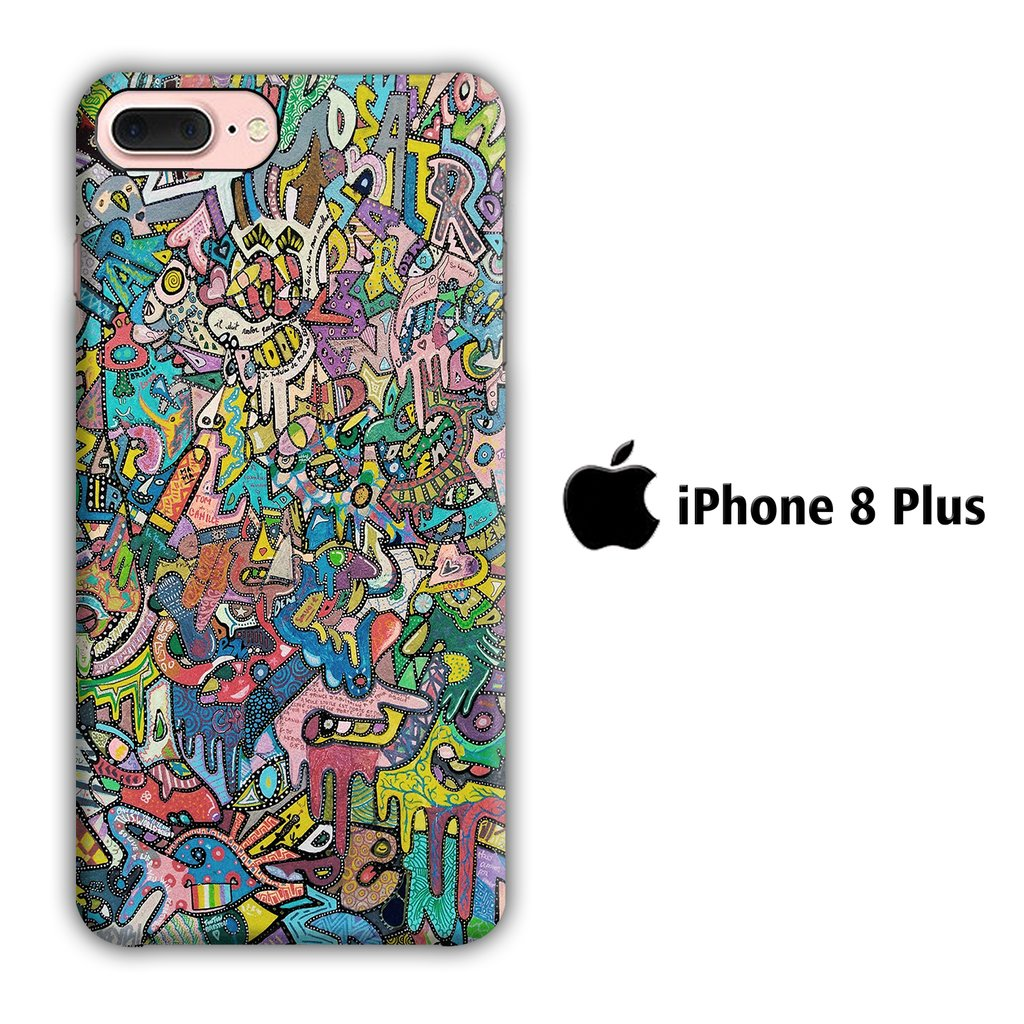 Art Real Abstract iPhone 8 Plus 3D coque custodia fundas