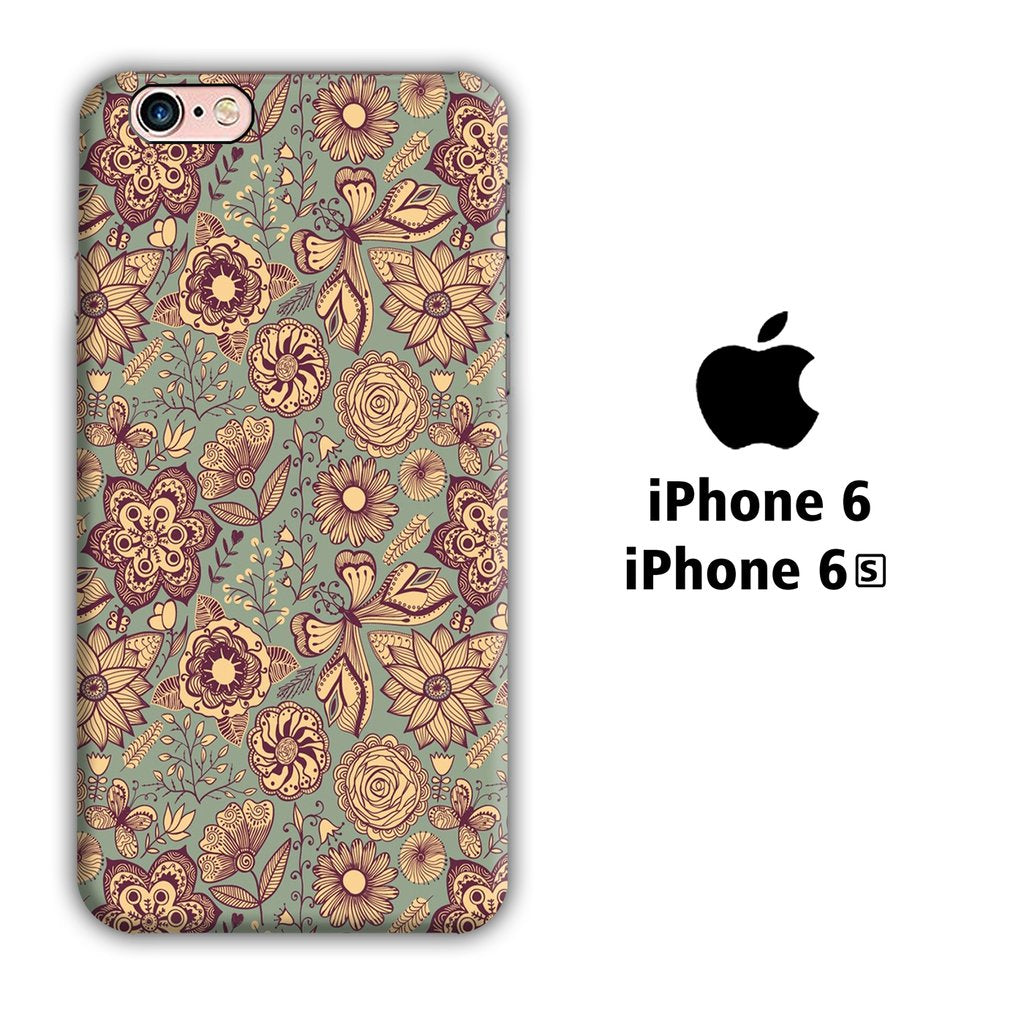 Art Vintage Pattern iPhone 6 | 6s 3D coque custodia fundas