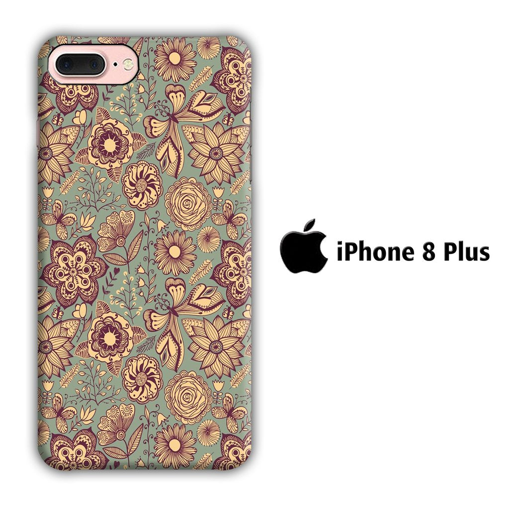 Art Vintage Pattern iPhone 8 Plus 3D coque custodia fundas