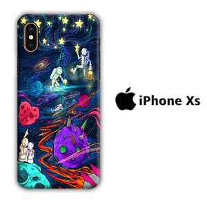 Art in Astronaut iPhone Xs 3D coque custodia fundas