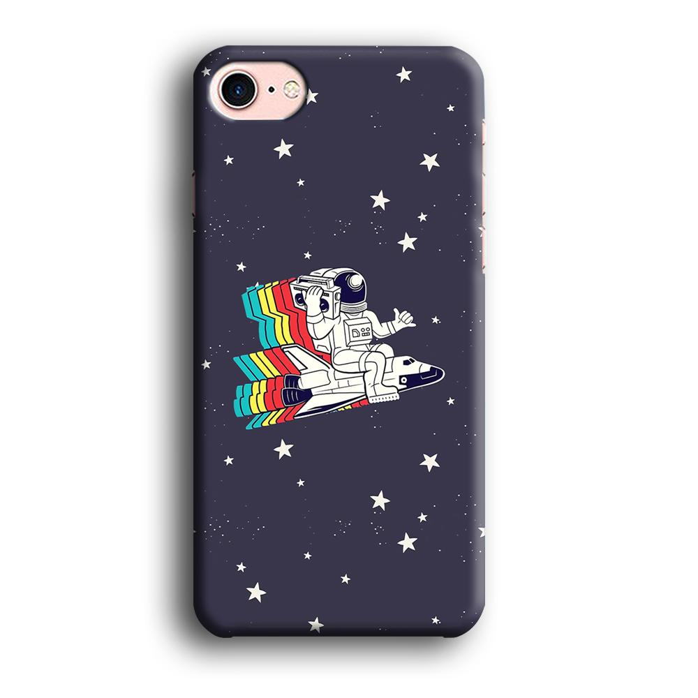 Astronaut Music inThe Sky iPhone 8 3D coque custodia fundas